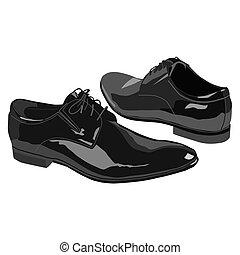 homens, sapatos, negócio