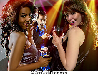 homens, seduzir, clube