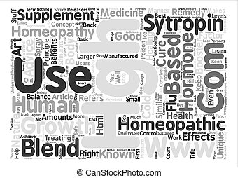 Homeopathic HGH Word Cloud Concept Text Background