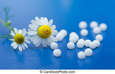 Homeopathic medication - Chamomile flower and homeopathic...