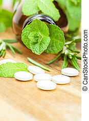 Homeopathic medication with tablets