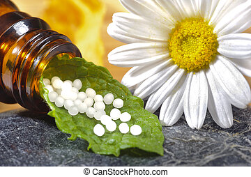 homeopathic pills - alternative medicine with homeopathic...