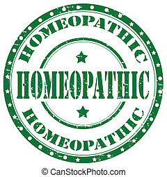 Homeopathic-stamp - Grunge rubber stamp with text...