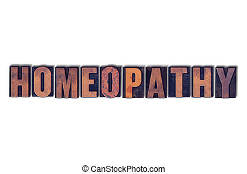 Homeopathy Concept Isolated Letterpress Word