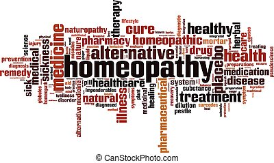 Homeopathy word cloud concept. Vector illustration