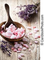 homeopatisk, hav, salt.