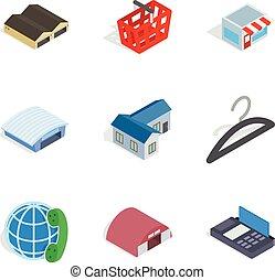 Homeowner icons set, isometric style - Homeowner icons set....