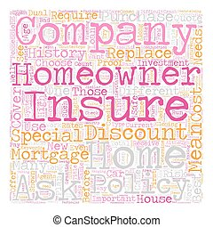 Homeowners Insurance Company How To Choose One text background wordcloud concept