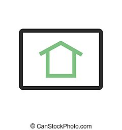 Homepage - , homepage, connection icon vector image. Can ...