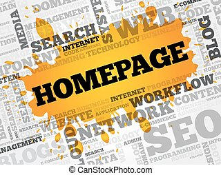 Homepage word cloud