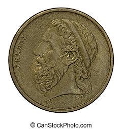 Homer, ancient Greek poet - portrait of Homer, legendary...