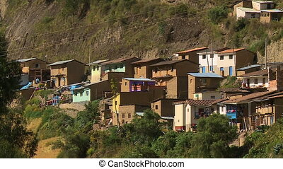Homes Along Mapacho River, Paucartambo, Peru - Medium...
