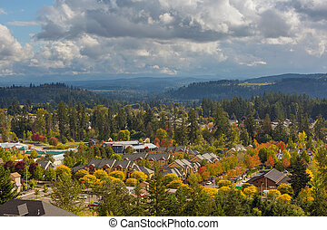 Homes in Happy Valley Oregon during Fall Season