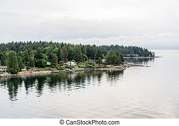 Homes on Point of Land in Canada