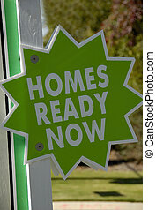 Homes Ready Now - Green Homes Ready Now Realty Sign