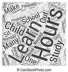 homeschooling hours dlvy nicheblowercom Word Cloud Concept