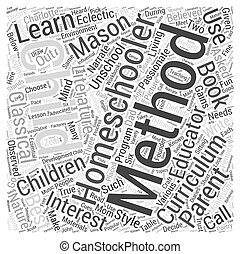 homeschooling methods dlvy nicheblowercom Word Cloud Concept