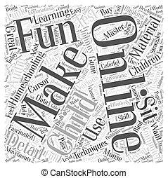 homeschooling online Word Cloud Concept