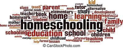 Homeschooling word cloud