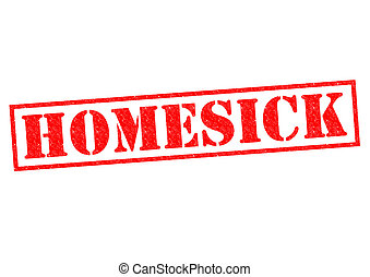 HOMESICK red Rubber Stamp over a white background.