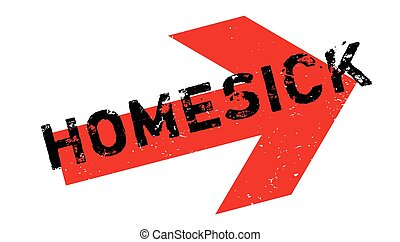 Homesick rubber stamp. Grunge design with dust scratches....