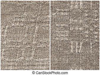 Homespun linen cloth - Texture old fabric, fragment of a ...
