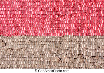 Homespun striped carpet. Background