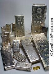 Homestake Mining Company silver bullion bars - Precious metals
