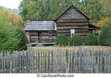 Homestead - An early American homestead in an autumn setting