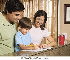 homework., 家族