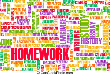 Homework From School as a Study Concept