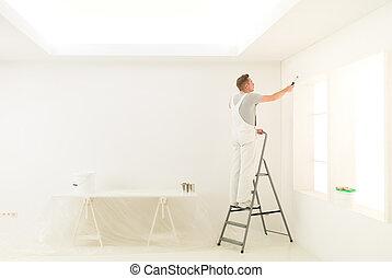 homework male on a ladder