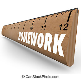 Homework Ruler Assignment Lesson Project for School