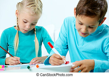 Homework with friend