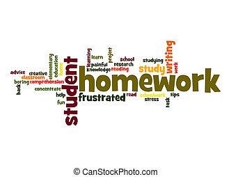 Homework word cloud