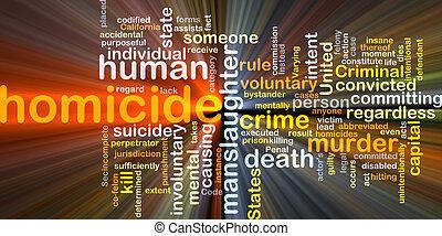 homicídio, glowing, conceito, fundo