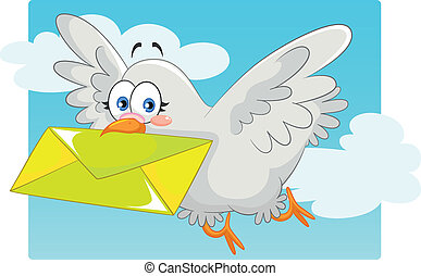 homing pigeon - pigeon carrying a letter