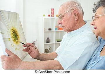 homme âgé, peinture