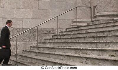 homme, étapes, bâtiment