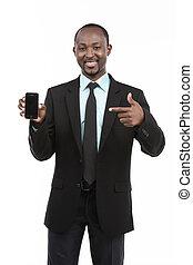 homme affaires, africaine