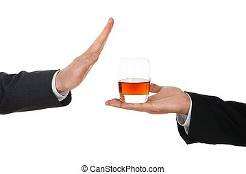 homme affaires, alcool, éviter