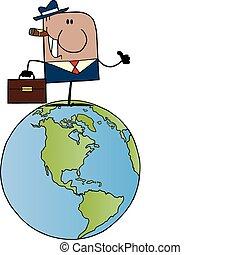 homme affaires, américain, africaine