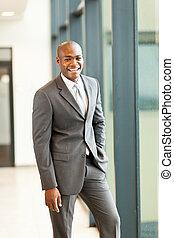 homme affaires, américain, beau, africaine