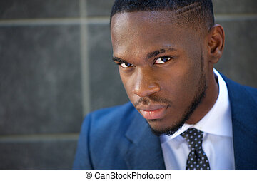 homme affaires, américain, moderne, africaine