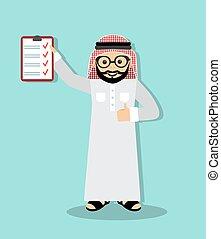 homme affaires, arabe