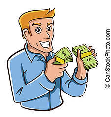 homme affaires, argent