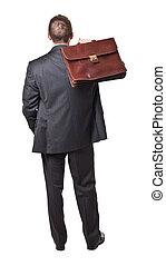 homme affaires, arrière affichage