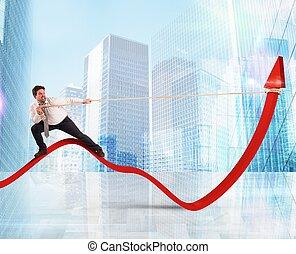 homme affaires, ascenseurs, statistiques
