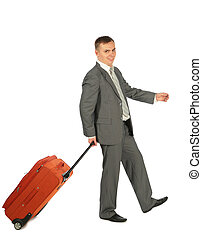 homme affaires, bagage