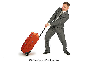 homme affaires, bagages